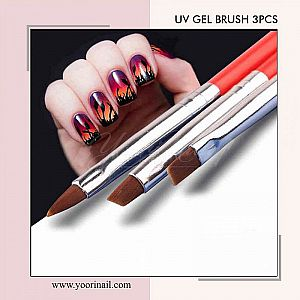UV Gel Brush 3pcs