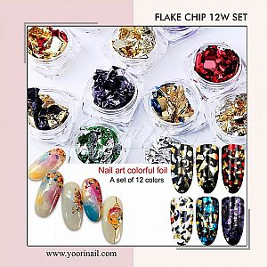 Flake chip mix 12 colors